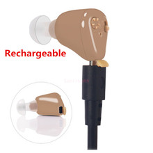 rechargeable ear hearing aid mini device ear amplifier digital hearing aids in the ear for elderly acustico(China)