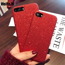 WeiFaJK Luxury Fashion Sexy Women Case for iPhone 6 6s Case Glittering Red Hard Cover for Apple iPhones 7 7Plus Case Phone Bag