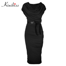 Buy Kinikiss women work office dress 2017 new spring black short sleeve gray sheath bodycon dress fashion sexy summer office dresses for $12.48 in AliExpress store