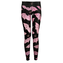 Drop ship S-4XL 2015 Women Little pink bats Leggings MIlk Leggings Galaxy leggings Plus Size girl Leggings