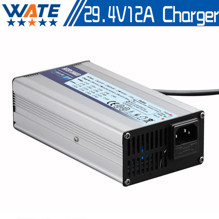 Free shipping 29.4V12A charger 29.4v 12A electric bike lithium battery charger for 24V lithium battery  29.4V12A charger<br><br>Aliexpress