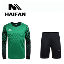 HAIFAN New Sale Men Goalkeeper Sets Adult Soccer Jerseys Football Goalkeeper Jerseys Youth Long Sleeve Training Tops and shorts(China)