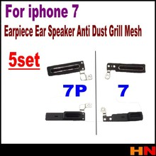 5set for iPhone 7 7g 4.7inch Inner Earpiece Ear Speaker Anti Dust Grill Mesh with Rubber Gasket Adhesive