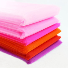 72CM x10M Tissue Roll Spool Sheer Gauze Element Colorful Craft Sheer Gauze Tulle Wedding Party Decoration Organza 8ZSH015C1