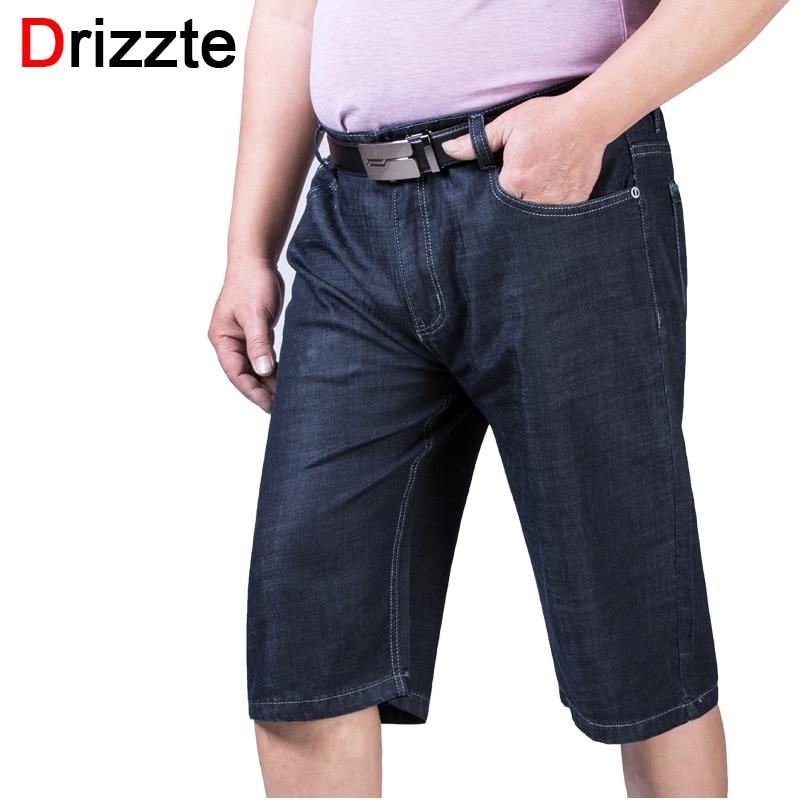 Drizzte Men Plus Size 40 42 44 46 48 50 52 Stretch Denim Large Big Jeans Shorts Black Blue Jean Trousers Pants For SummerОдежда и ак�е��уары<br><br><br>Aliexpress