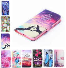 New two side Painted wallet Phone cover Rose Flower Tower pattern Flip Leather Case For Lenovo A2010 / 4.5 inch