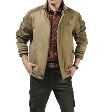 Big size M - 5XL 2015 European men  casual brand 100% cotton army green jacket coat man spring khaki jackets