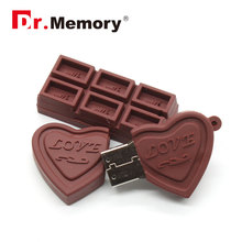 Flash USB Drive Cartoon Love Sweet Chocolate Flash Drive 4GB 8GB 16GB 32GB USB 2.0 Flash Memory Stick Flash Drive Pendrive Gift
