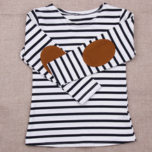 Buy New 2017 Summer Kids Girls T-shirt Long Sleeve Striped Cotton T-shirt Girl Children Fashion Tops Kids Baby Clothes 2-7Y for $4.25 in AliExpress store