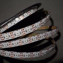 4m DC5V 60leds/m(60pixels) WS2812 led digital strip,waterproof by silicon coating,IP65