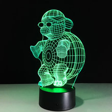 LED Night Lights Turtle 3D Night Light Colorful Gradient Lights LED Table Lamp Acrylic lampara Kids Toys Bedroom Decorate