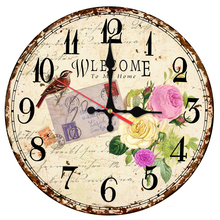 2017 hot wall clock wooden clocks Quartz watch home decor Europe circular living room single face stickers still life style(China)