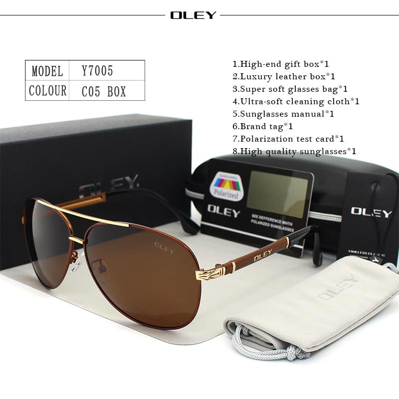 OLEY Luxury sunglasses men polarized Classic pilot Sun glasses fishing Accessories driving goggles gafas de sol zonnebril mannen 14