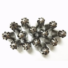 14PCS/ SET Nozzle Sphere Ball Shape Stainless Steel Nozzles Icing Tips Piping Pastry Tool Cupcake Buttercream Bakeware Cake Tool(China)
