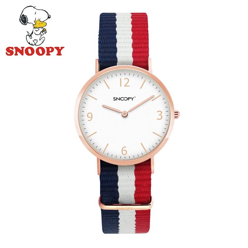 Snoopy Lover Watch for Women Men Ladies Watches Female Fashion Simple Quartz Brand Canvas Strap Waterproof Children Kids Watch<br>