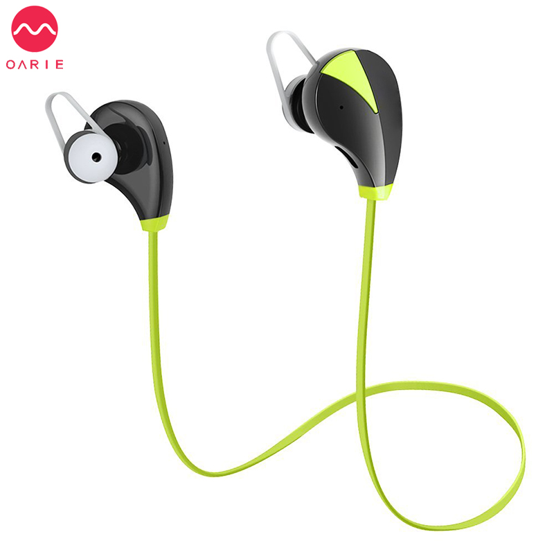 OARIE Bluetooth Earphone Wireless Headset Stereo Sports mp3 Studio Music Handsfree Headphone Sweatproof Earbuds for iPhone 6 7 <br>