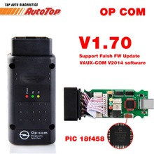 2017 Best ODB 2 OPCOM V 1.70 Autoscanner OP COM for OPEL Firmware V 1.70 With PIC18F458 OP-COM for Opel OP COM OBD2 Scanner(China)