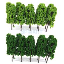 New Arrivals 2015 Pagoda Trees Model Train Railroad Scenery 1:150 20pcs Dark and Light Green Free Shipping