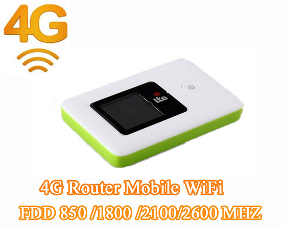 Unlocked Mini 4G WIFI LTE Router Mobile Wi Fi Hotspot 3G 4G WiFi Router FDD 850 /1800 /2100/2600 MHZ UMTS LTE EDGE HSPA GPRS GSM(China (Mainland))