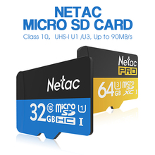 Original Netac Class10 Micro SD Card UHS-I 16GB 32GB Flash Memory Card 64GB 128GB  UHS-I U3 High Speed for Phone Recorder Camera