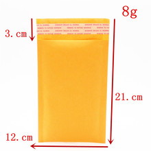 3pcs 12*21cm high quality Kraft Bubble Mailers Padded Bubble Envelopes Bags Envelope Mailing Bag Paper Envelopes