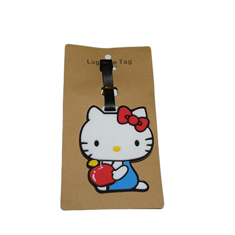 2018 New Fashion Silicon Luggage Tags Travel Accessories For Bags Portable Travel Label Suitcase Cartoon Style For Girls Boys (13)
