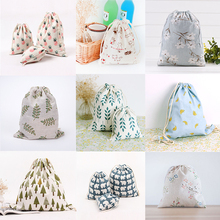 1Pc 9 Options Cotton Linen Gift Bags Birthday 3Size Wedding Party Favor Holders Jewelry Drawstring Packaging Pouch(China)