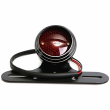 12V 0.5W Motorcycle License Plate Rear Light Metal Taillights for Harley(China)