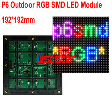 P6 Outdoor RGB SMD LED Module 192*192mm 32*32pixels for full color LED display Scrolling message P6 RGB SMD LED sign 3pcs/lot