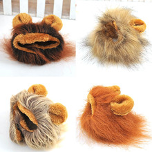 Buy Funny Cute Pet Costume Cosplay Lion Mane Wig Cap Hat Cat Halloween Xmas Clothes Fancy Dress Ears Autumn Winter for $3.42 in AliExpress store