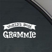 For Worlds Best Grammie Decal Car Truck Window Sticker Car Styling(China)