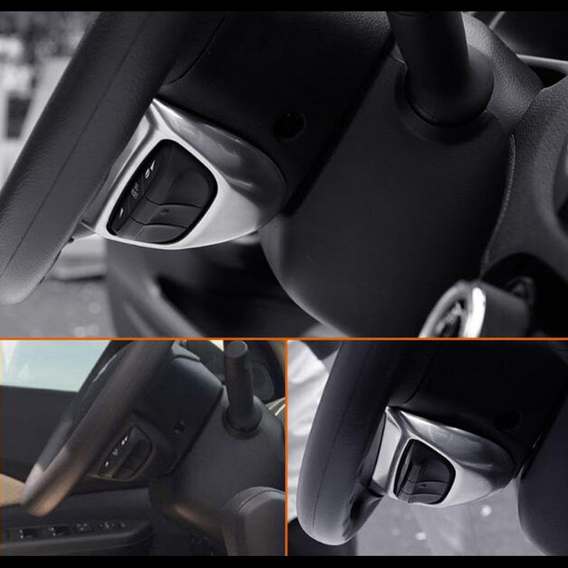 ABS Silver Dashboard Headlight Switch Button Trim For Honda 2017 2018 CRV CR-V