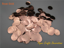 1inch=2.5cm 30g/bag PVC Rose Gold Round Metallic Confetti Dots Filled Balloons Party Wedding Decorations(China)