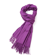 Wholesale&Sale 18 Colors New Women's Solid Purple Cashmere Pashimina Fashion Thick Soft Shawl Scarfs Wrap New Year Shawl 011701