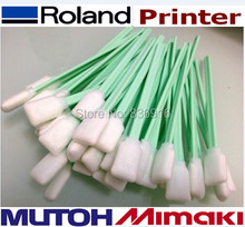 200 pcs Roland Mimaki Mutoh Solvent Printer Print head Foam Cleaning Swabs ( Foam head is much better than cotton swabs )