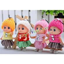 6pcs 2016 NEW Kids Toys Soft Interactive Baby Dolls Toy Mini Doll 8 CM For Girls cute pendant Toys Creative small gifts