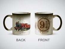 Platform 9 3/4 hogwarts mug heat reveal heat sensitive mug magic tea cups coffee mugen transforming magic cups