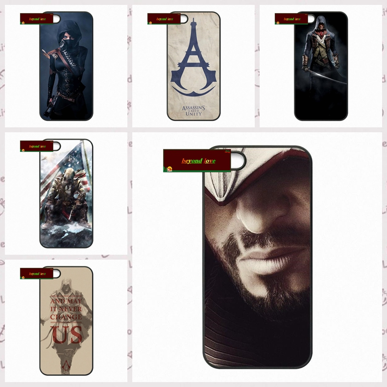 Skull Assassins Creed Cell Phone Cases Cover For iPhone 4 4S 5 5S 5C SE 6 6S 7 Plus 4.7 5.5 #DF0936(China)