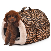 2016 New Product for Pet Bed Leopard Dog House Cat Cushion Pet Home High quality Soft Bed for Cat Print Puppy Mats(China)