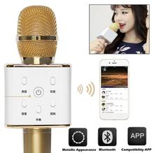2016 Hot Sale Wireless Bluetooth Q7 Microphone Self-Karaoke Support Mobile Phone Laptop Home KTV