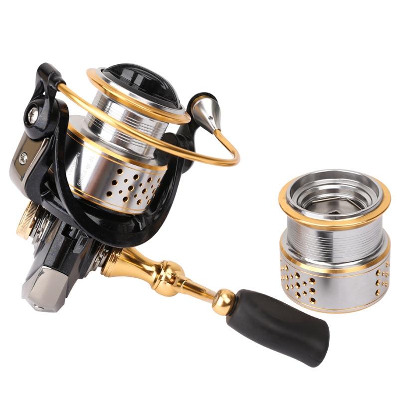 Trulinoya Double Metal Spool Spining Fishing Reel 5.2:1 8+1BB 230g Bass or Carp Lure Fishing Reel Max Drag 6kg<br>