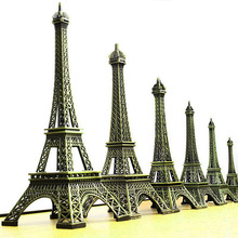 Bronze Paris Eiffel tower metal craft Micro Landscape Home decoration figurine statue model decor miniature decorative sculpture
