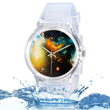 Willis sports watches Fashion Water Resistant Analog Wrist Watch with Transparent Dull Polish Silicone Band<br><br>Aliexpress