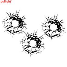 Bullet Holes Glass Art Car Stickers Vinyl Car-styling Decal