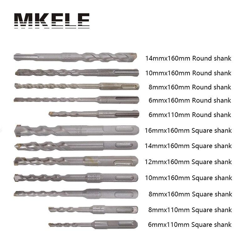 12pcs/set Twist Drill Bit For Metal 40CR Chrome-vanadium Steel Drilling Woodworking Power Tools 6/8/10/12/14/16mm Herramientas <br>