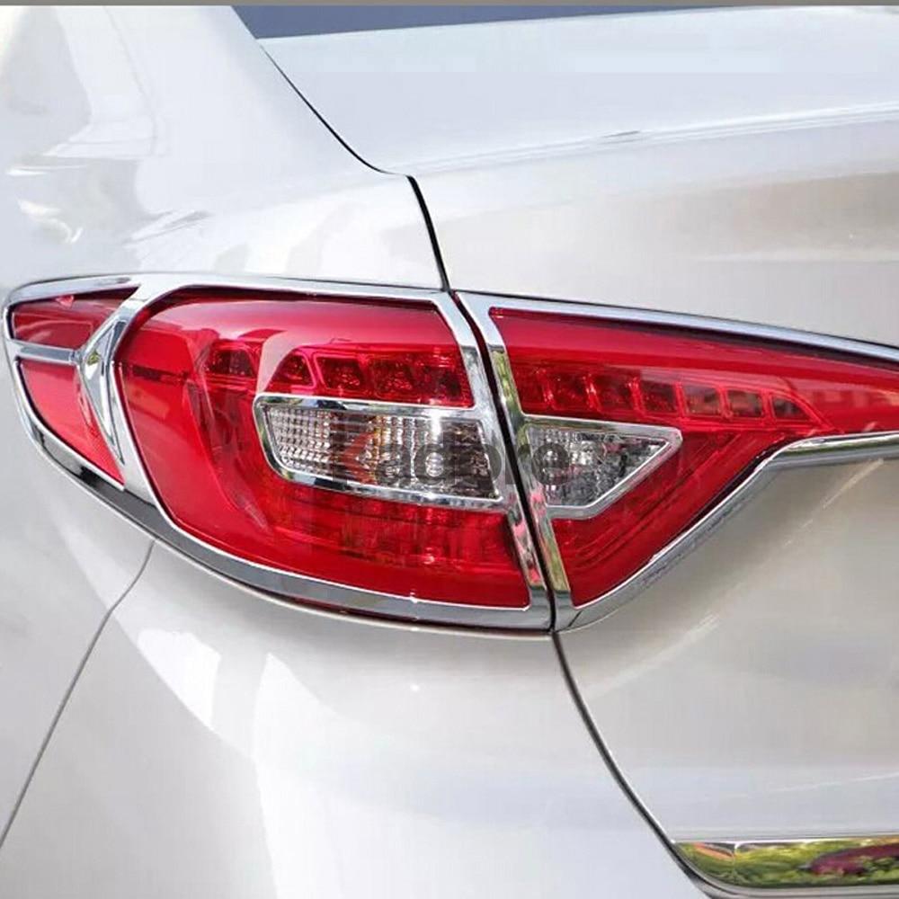For Hyundai Elantra 2017-2019 ABS Chrome Rear Tail Lamp Tail Light Cover Trim