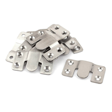 Furniture Sectional Interlock Style Sofa Connector 10pcs Silver Tone