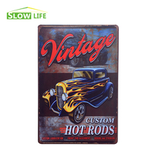 "Wholesale Custom Hot Road Car Vintage Home Decor Tin Sign 8""x12"" Retro Bar/Garage Wall Decor Metal Sign Decorative Metal Plate"