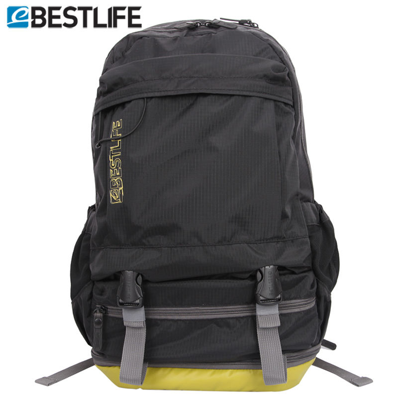 BESTLIFE  Light Weight Short Journey Travel Rucksack With Shoes Compartment Waterproof Ripstop Nylon Laptop Backpack Men Women <br>