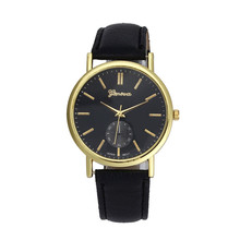 Clock Men's Watch Fashion Luxury Unisex Leather Band Analog Quartz Vogue Best Wrist Watch Gift Noble Comfortable Temperament M/5(China)